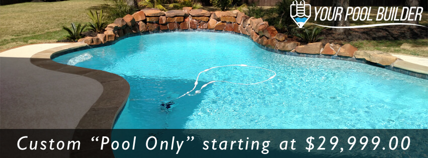 custom inground gunite swimming pool contractors in Huntsville, TX 77340