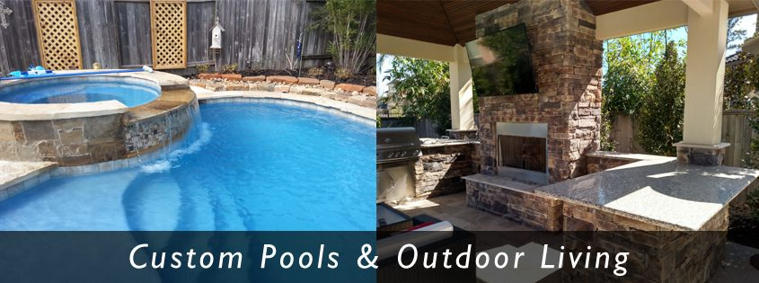 Your Pool Builder of Texas construction contractors of custom swimming pools and outdoor kitchens