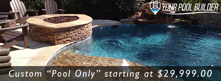 custom inground gunite swimming pool contractors in Magnolia, TX 77354