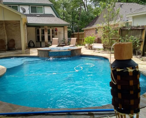 custom swimming pool construction project in Montgomery, TX