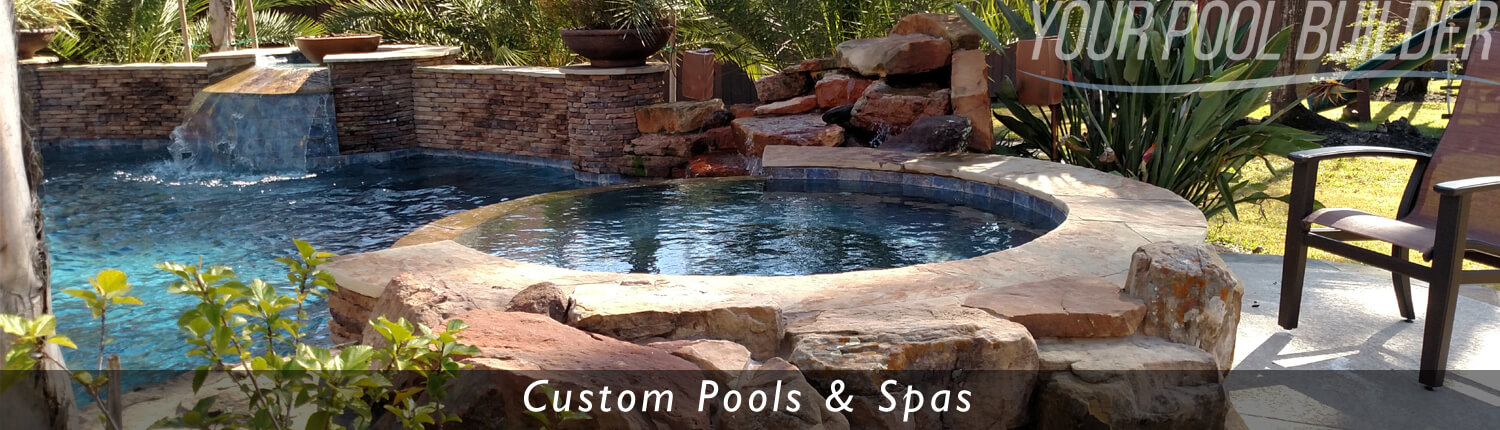 custom inground pools and spas montgomery county texas