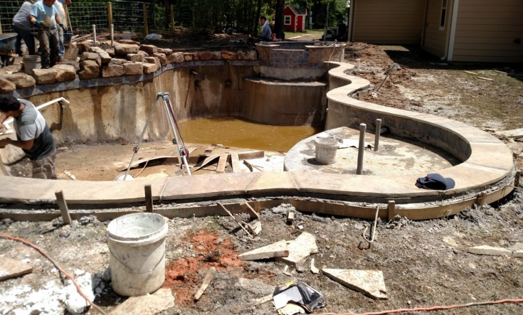 tile and coping installation custom pool
