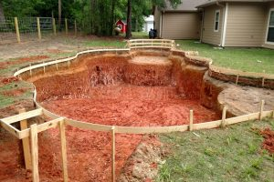 completion of swimming pool excavation