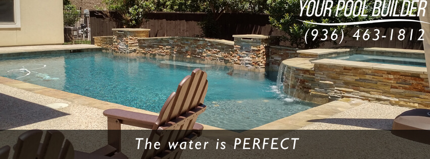 Pool builders near willis tx inground pools around lake conroe texas for Swimming pool construction company