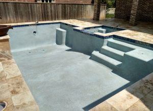 complete swimming pool plaster installation
