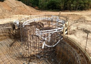gunite swimming pool plumbing installation