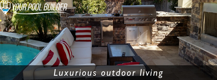 custom outdoor living construction contractors Your Pool Builder of Texas