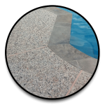 pea gravel concrete decking for swimming pools