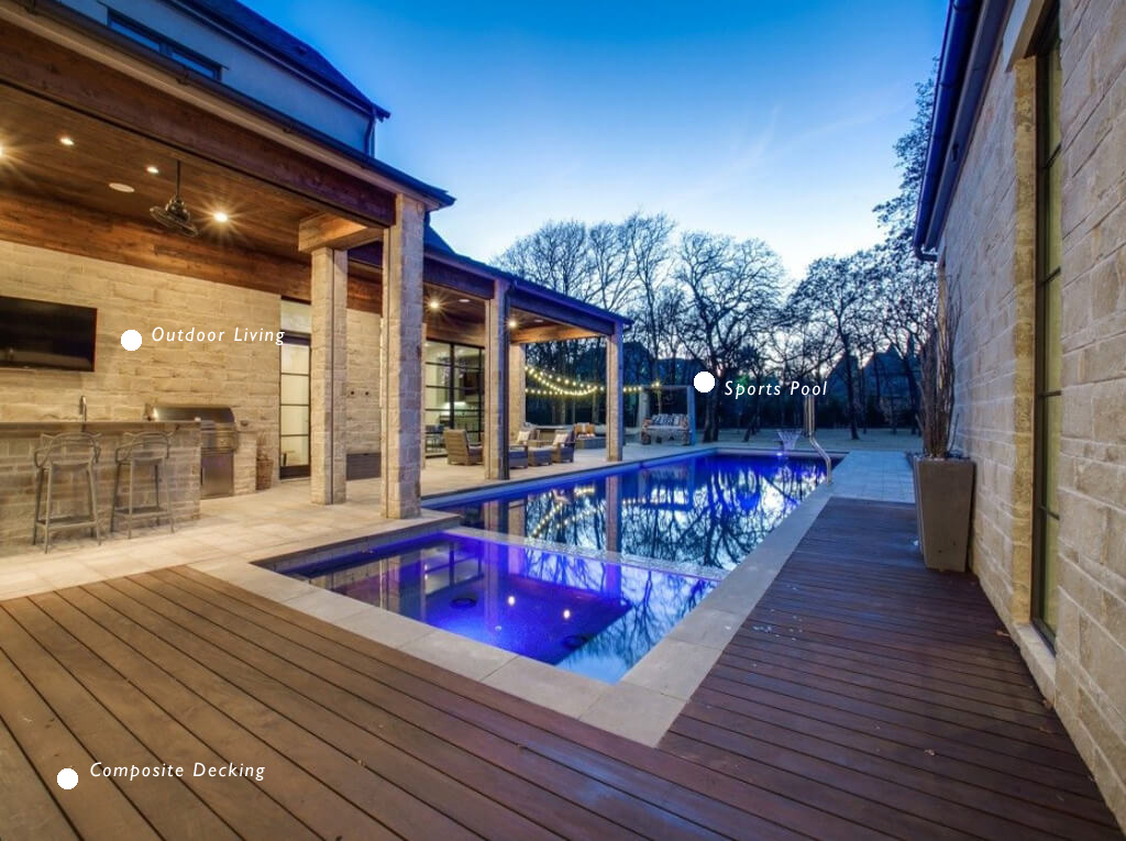 custom pool contractors pool design The Woodlands, TX