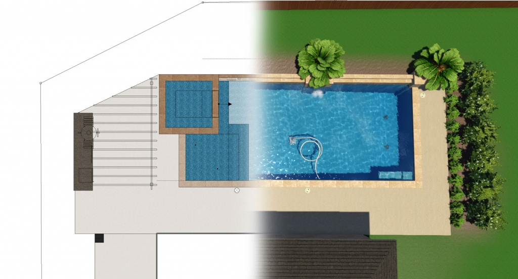Choose Your Swimming Pool Features with 3D Pool Designs
