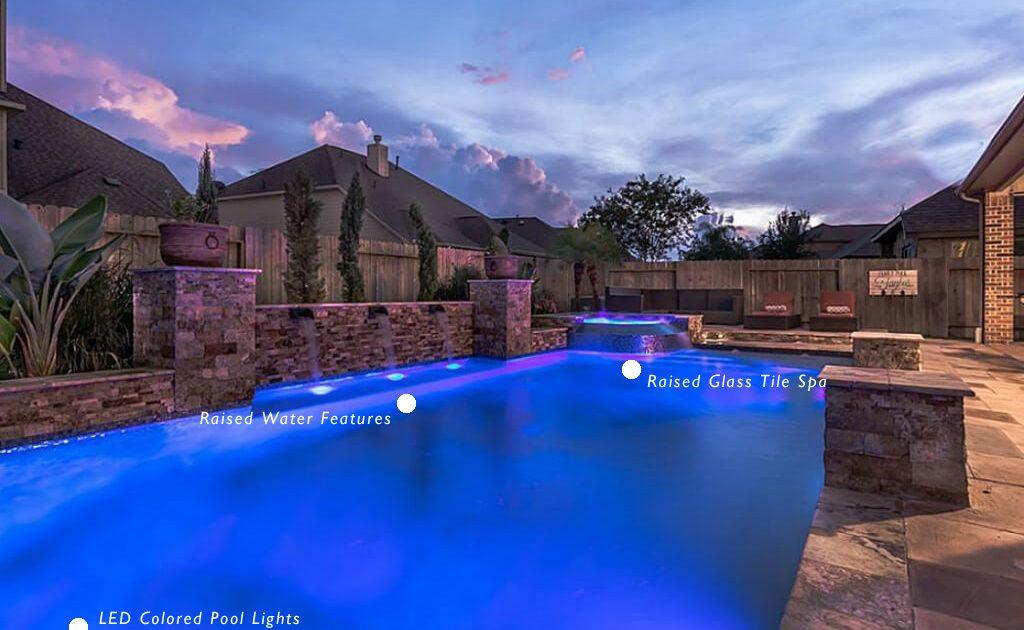 custom pool contractors pool design Montgomery, TX