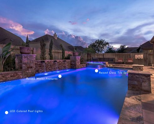 custom pool contractors pool design Montgomery, TX