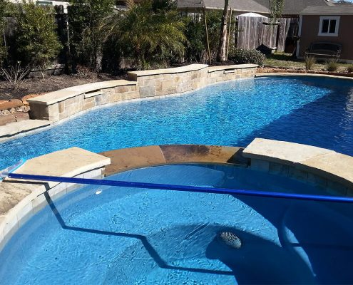Custom gunite pool builders Conroe, TX