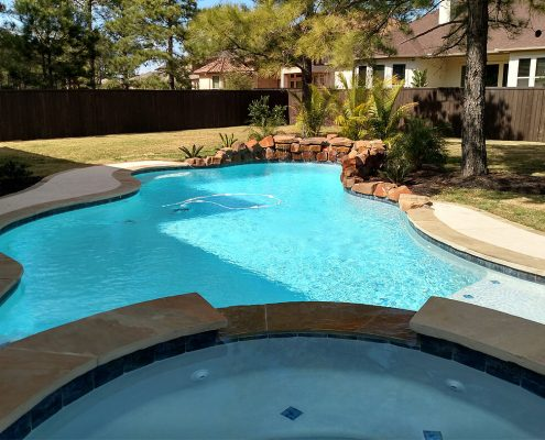swimming pool construction Conroe, TX