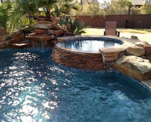 Custom inground gunite pool builders in Magnolia, TX