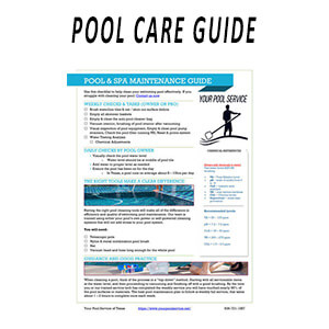 SWIMMING POOL MAINTENANCE POOL CARE GUIDE PDF