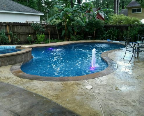 Custom inground gunite pool construction Conroe, TX