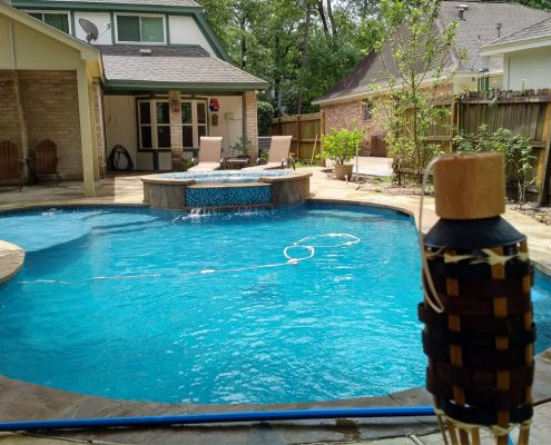 Conroe, TX custom inground swimming pool builders
