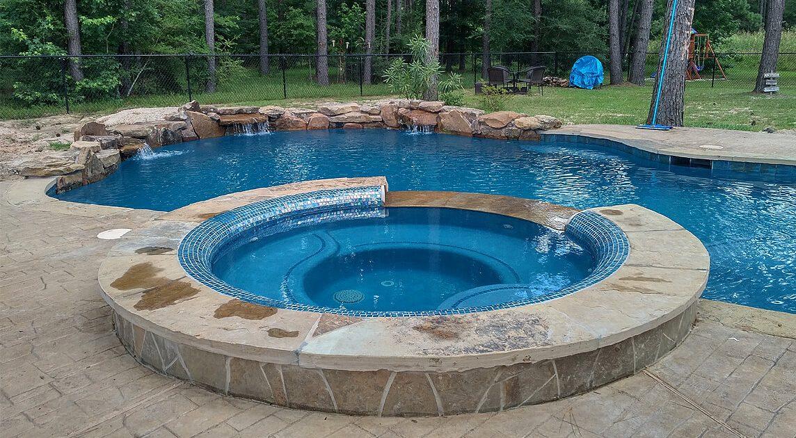 gunite pool builders Montgomery, TX