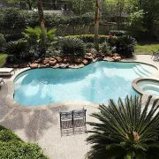 fitting a swimming pool into backyard