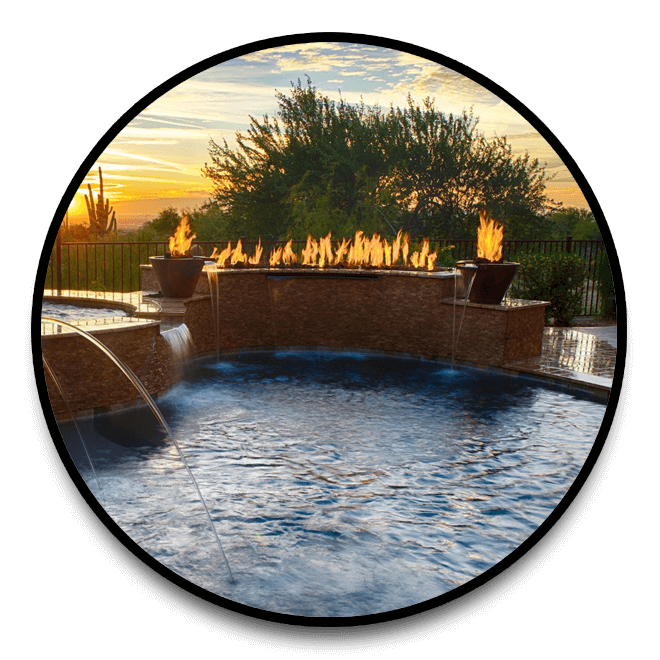 Fire Features for swimming pools