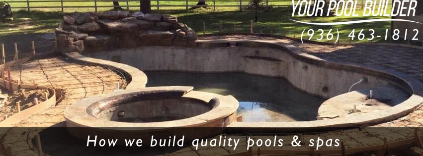 how to build an inground swimming pool your pool builder of texas