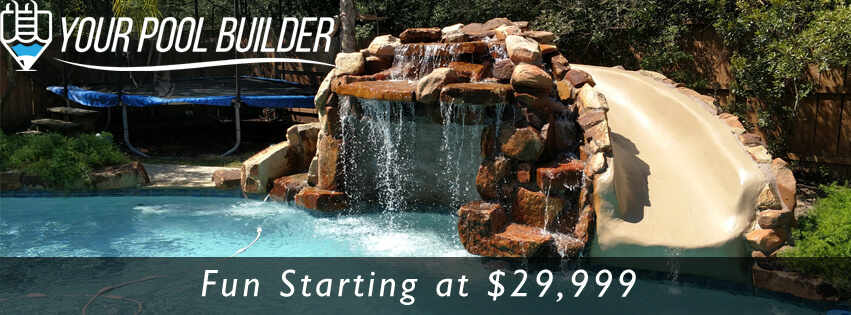 swimming pool construction in Conroe tx starting at $29,999