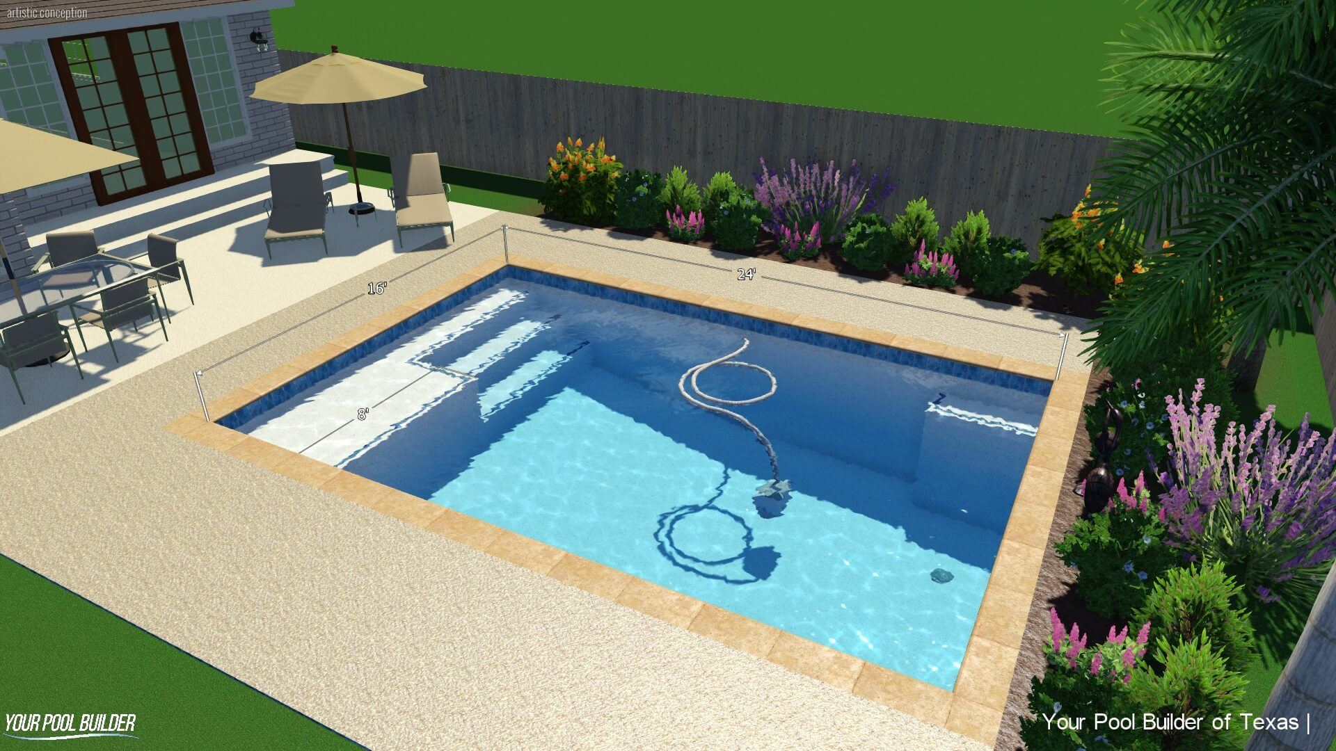 Inground Pool Cost >> Basic Pool Construction Package Texas New Pool Installation Cost