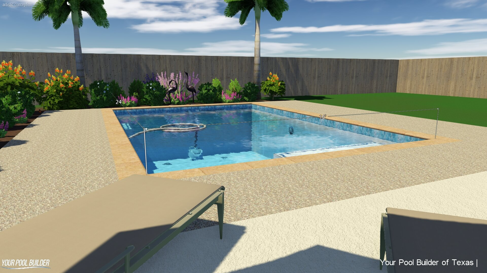 Basic Pool Construction Package | Texas New Pool Installation Cost