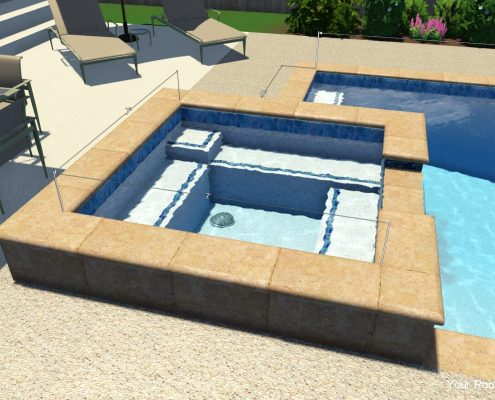 inground swimming pool prices cost with a spa