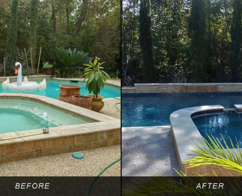 inground swimming pool remodeling contractors conroe, tx
