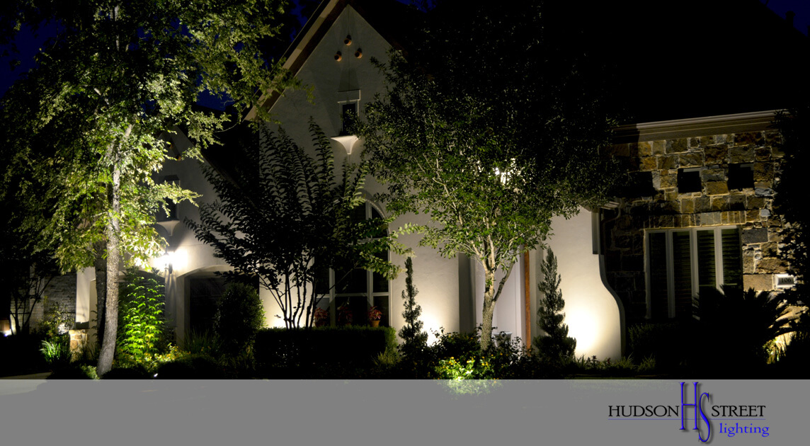 outdoor lighting companies near the Woodlands, TX