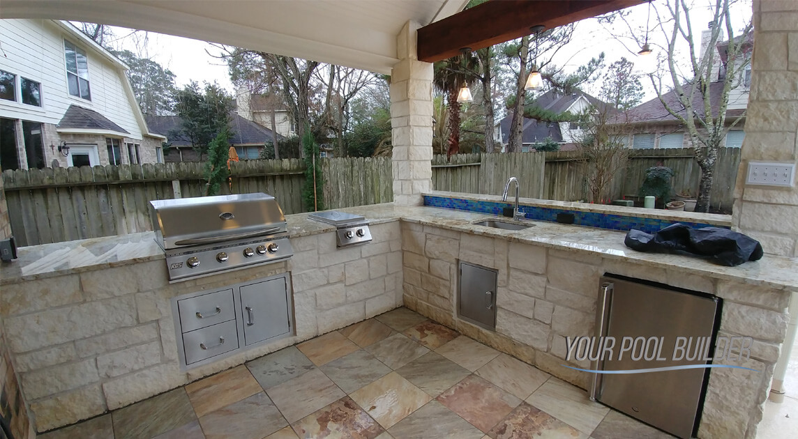 outdoor kitchen builders near the woodlands, tx