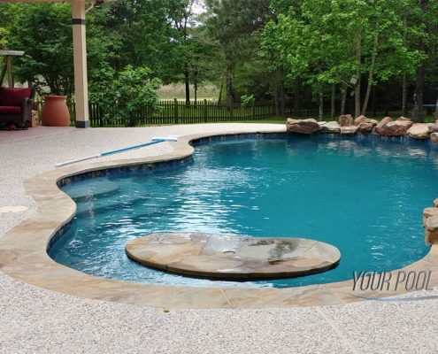 custom pool builders montgomery, tx 77316 free form rock waterfall