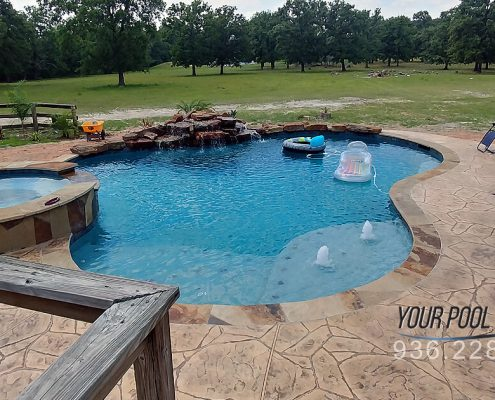 custom inground pool builders near huntsville, tx 77340