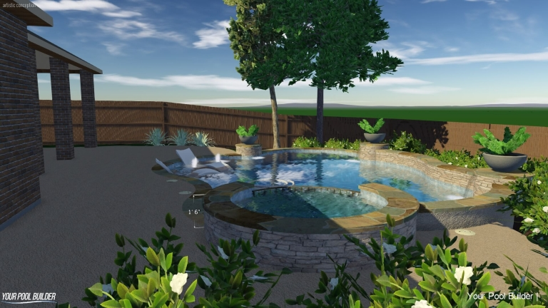 swimming pool design process 3d examples